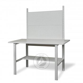 Верстак металлический слесарный с перфопанелями 1500х620х850