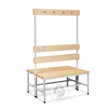 Скамейка с вешалкой двухсторонняя