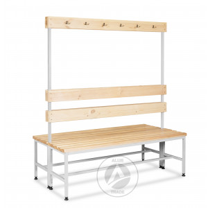 Скамейка с вешалкой двухсторонняя 1500