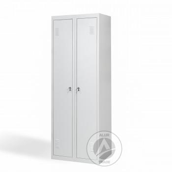 Шкаф одежный металлический ШО 300/2 с дополнительной полкой