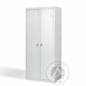 Шкаф одежный металлический ШО 400/2 с дополнительной полкой